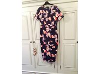 ASOS maternity special occasion floral dress size 8