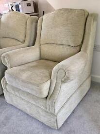 Comfortable Beige Armchair