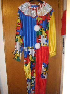 CLOWN Kostüm CLOWN Karneval Kostüm 1 teiler Erwachsene Herren 50 !