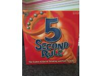 5 second rule board game - opened but unused