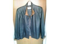 Ladies two-colour leather jacket