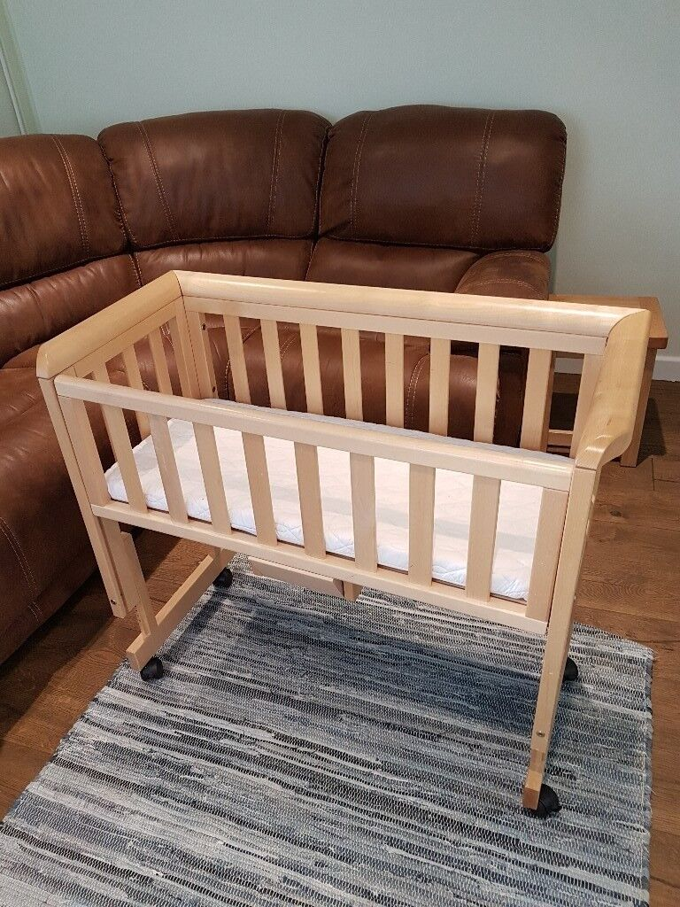 Wooden co sleeper bedside crib