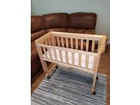 Wooden co sleeper bedside crib