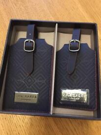 Ted Baker Black Luggage Tags