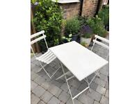 White Arc en Ciel Garden Table and Chairs