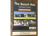 The beach huts camber sands (chalets)