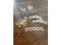 Wedding hair slides/bobby pins & a unused princess bracelet