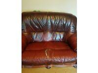 5seater leather sofa