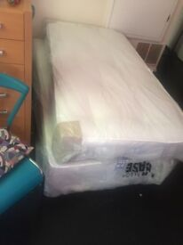 Brand new unopened ortho mattress & single divan bed