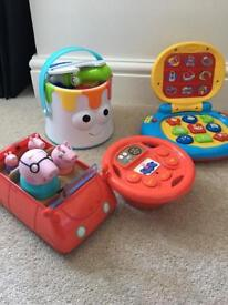 Toy Bundle Tomy Colour Maker Peppa Pig Remote Car vTech laptop