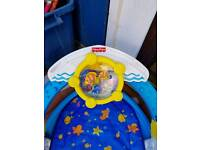 Baby swing and fisher price toy