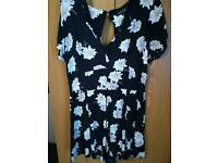 New Look size 12 short floral playsuit worn twice