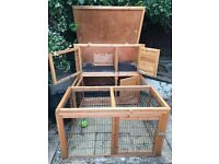 Double hutch and run plus extras