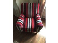 NEXT striped occasional chair