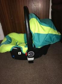 Isafe car seat with isofix base