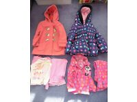 Girls Winter Coats - 1.5-2 Years (2 Items) Plus 2 Pairs of Pyjamas