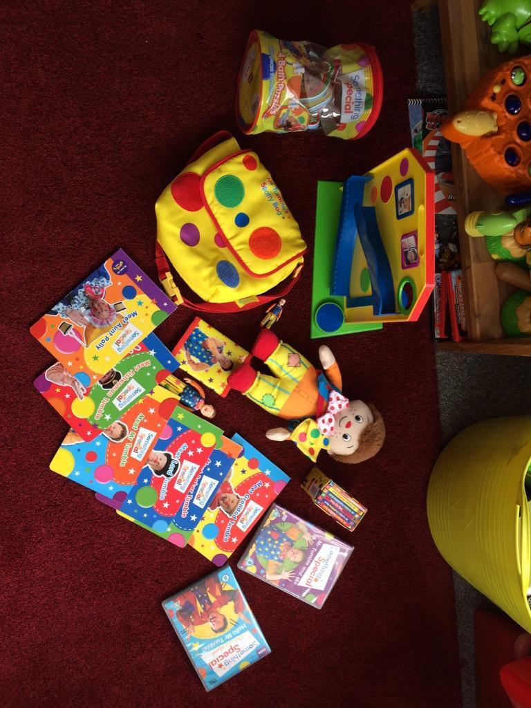Mr tumblein Ipswich, SuffolkGumtree - Mr tumble bundle doll dvds book learning activity bag etc puzzle etc a great bundle worth £15