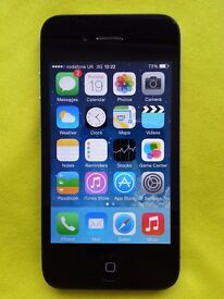 iPhone 4 on Vodafone - 16GB - Black - very good condition