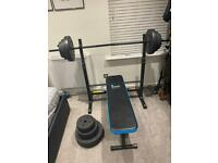 Weight bench set 70kg barbell plates