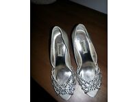 Dune Diamante Bridal Shoes Size 4