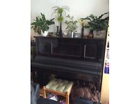 Upright Piano by Spaethe. Black.