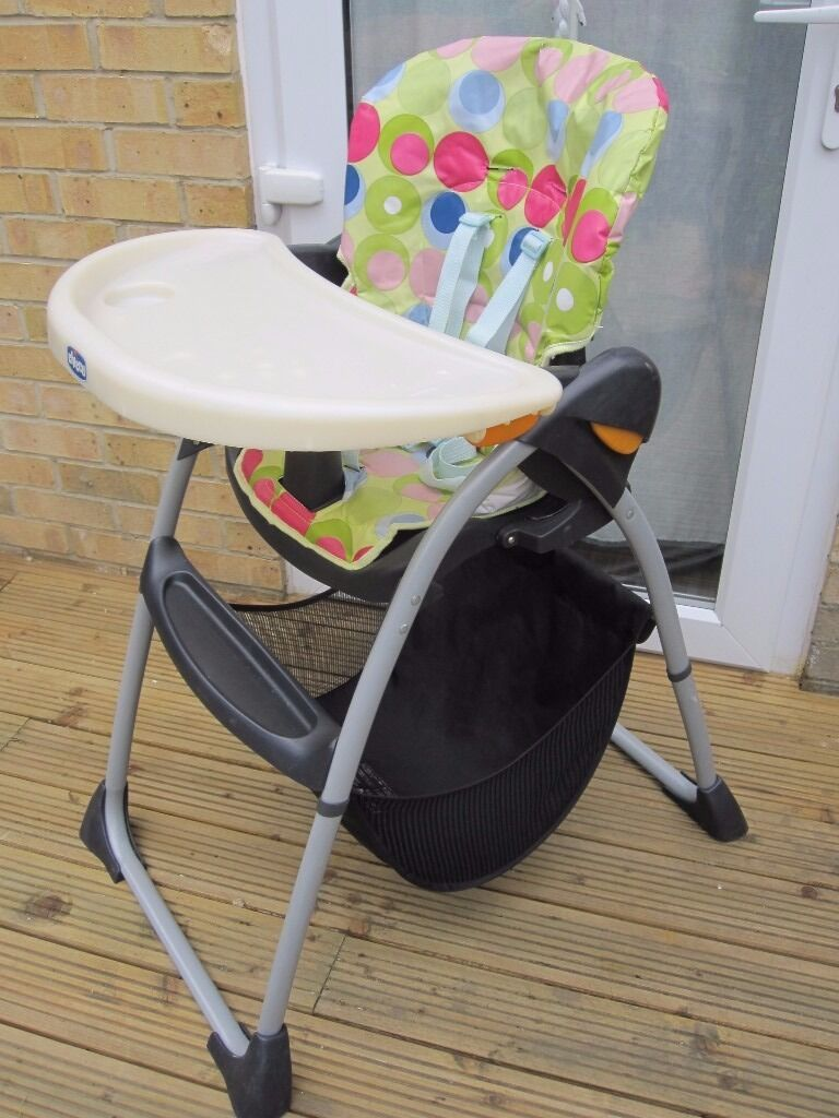 Chicco Spotty High Chair With Storage Basket Under Very