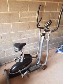 Exercise Bike & Cross Trainer in one