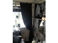 Crushed velvet curtains x2
