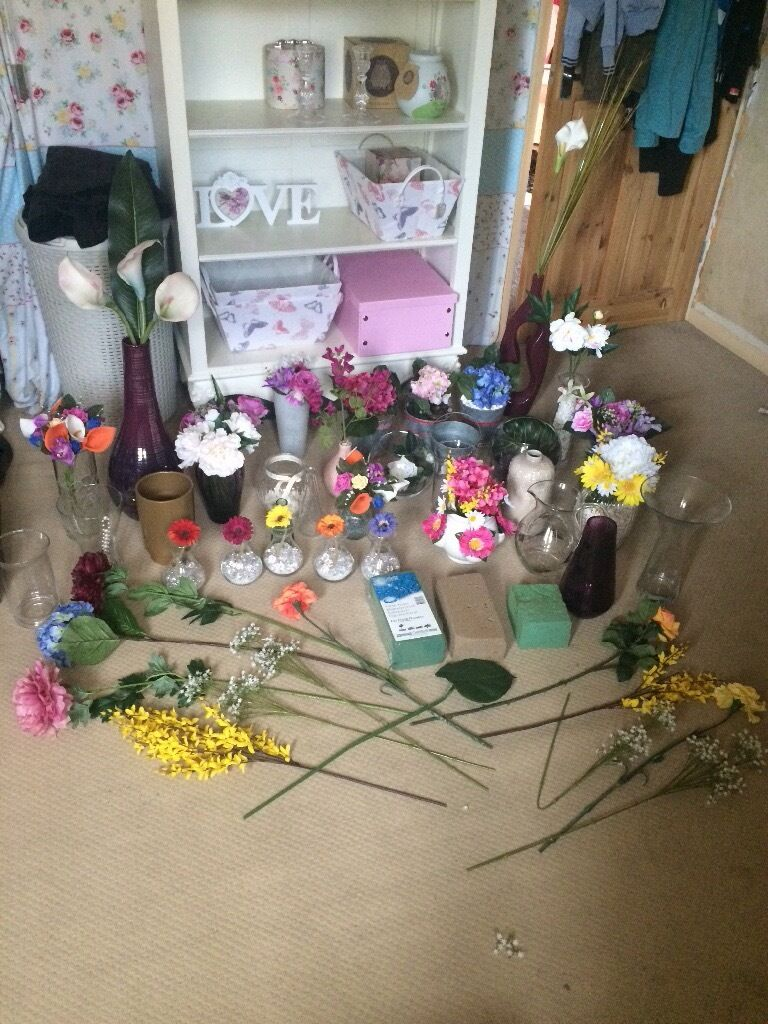Job lot artificial flowers and vases etc john lewis next m s job lot artificial flowers and vases etc john lewis next m s mightylinksfo