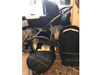 Baby Pram QBARO 3 in 1 Pushchair Carrycot Seat Car