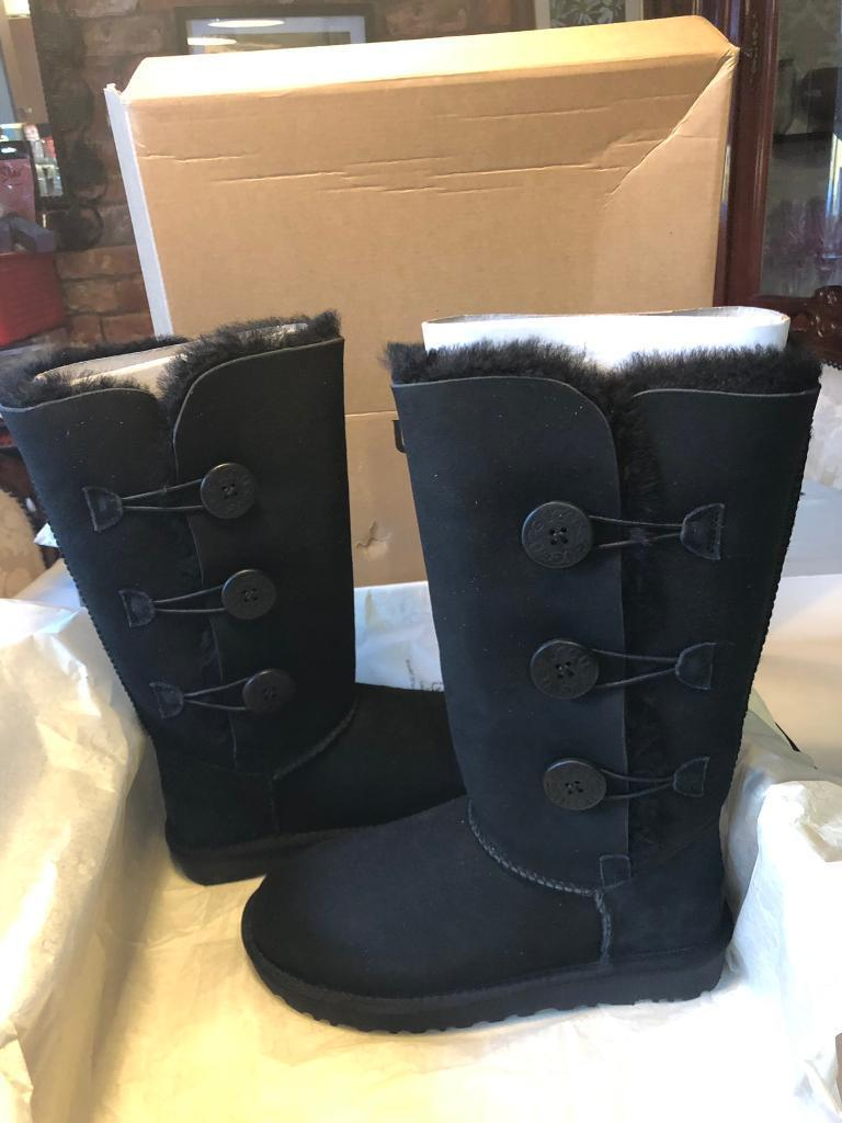 2bd36ad744e Ugg Classic Bailey Button Tall Black Boots   in Selby, North Yorkshire    Gumtree