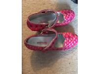 Girls size 1 party shoes