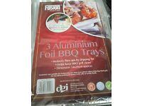 3 packs of 3 fusion food care aluminium foil bbq trays