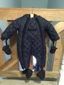 Mamas and Papas Navy Pramsuit/Snowsuit 0-3 months