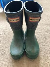 Kids Hunter Wellies. **used**