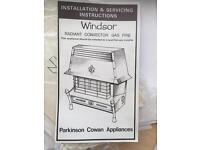Parkinson Cowan Windsor Radiant Convector Gas Fire incl. surround.