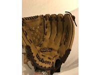 Wilson A450 Leather Baseball Glove