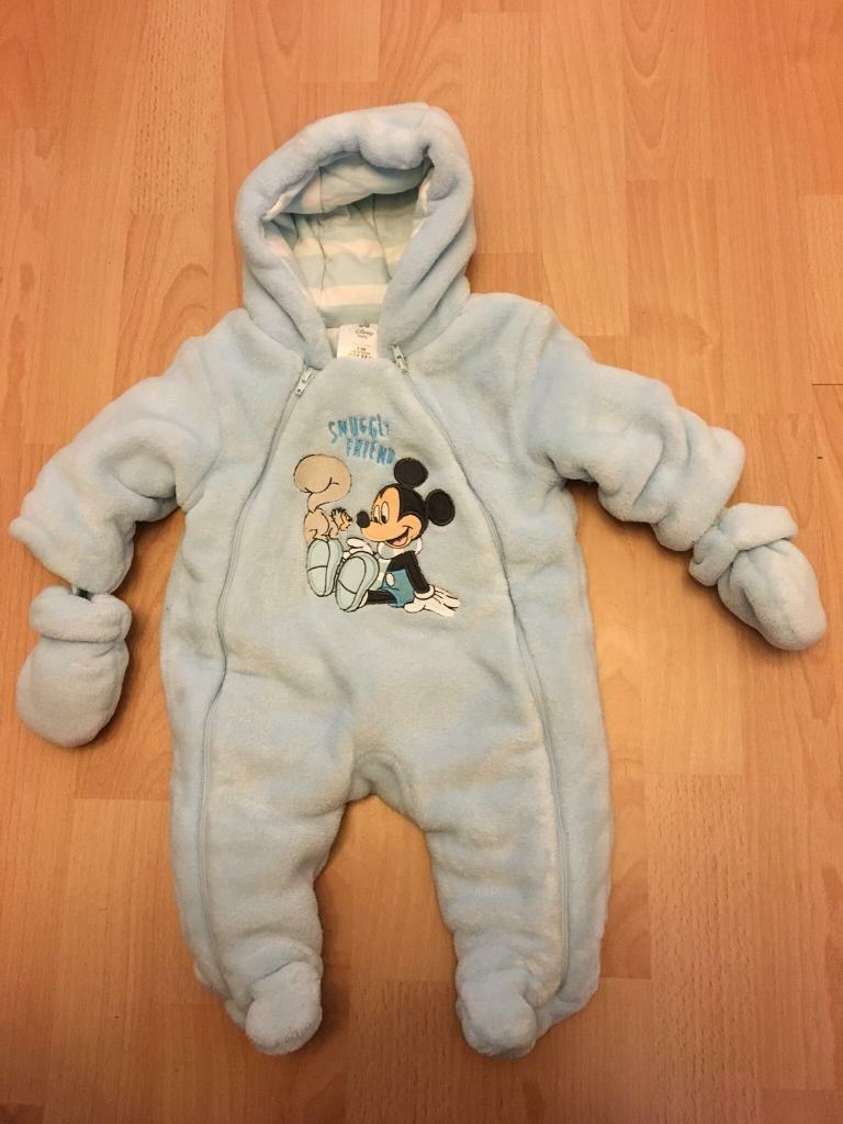 Disney Mickey Mouse Pram Suit 0-3 months