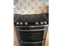 Zanussi black and silver cooker