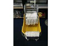 Professional 24 Litre Kentucky Mop Bucket With Wheels And 5x16oz Mop Head