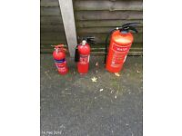 3 fire extinguishers