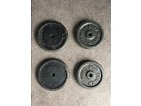 4 x 10kg (40kg) Barbell / Dumbbell Cast Iron Weight Discs
