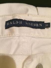 Ralph Lauren white skinny jeans
