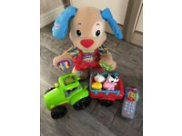 Fisher-Price puppy, Fisher-Price Remote, Carousel Musical Tractor