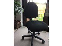 Office Chair - Black Cloth