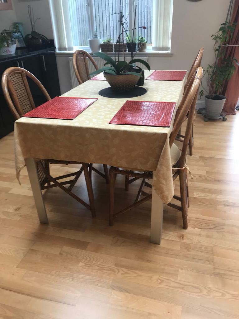 large dinner table and chairs in crookston glasgow gumtree