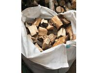 Chopped and split seasoned logs