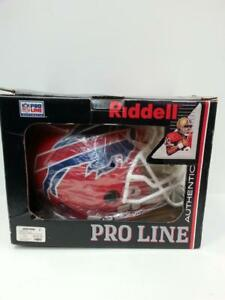 RIDDLE Proline Authentic NFL Helmet Buffalo Bills. We sell used collectibles. ( #44131)JE614474