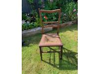 Edwardian Rattan Cane Seated Chair