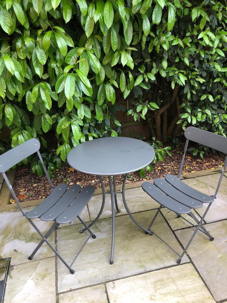 M&S garden bistro set in grey